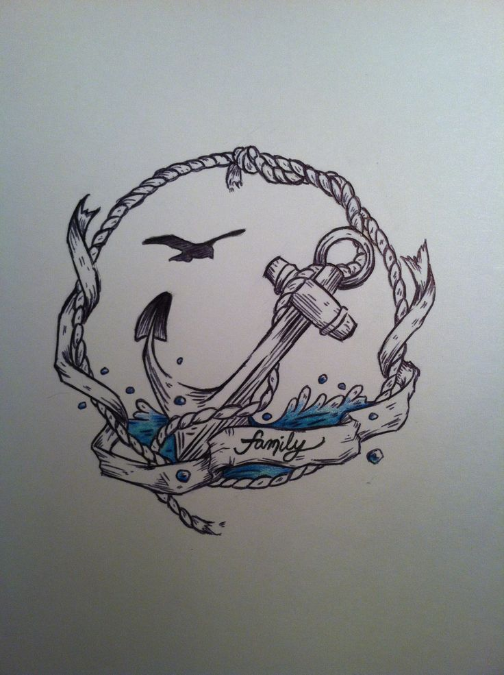 Nautical Tattoo idea this would be great a little bigger with a ship in the background