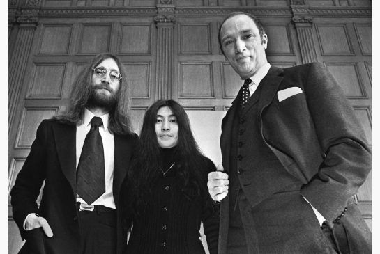 John Lennon and his wife Yoko Ono, in Canada on a crusade for peace, meet Prime Minister Pierre Trudeau in Ottawa on Dec. 24, 1969.
