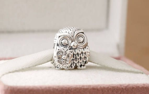 Charming Owls Mother and Child Charm Genuine 925 Sterling