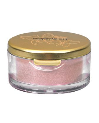Loose Eye Color Dust, Pink Champagne by Napoleon Perdis. This is such an amazing colour. Hard to explain. Not too pink, more goldy. Wear on its own or damp brush for a stronger look. Also, a great highlighter. I've hard this for years and it just lasts and lasts.