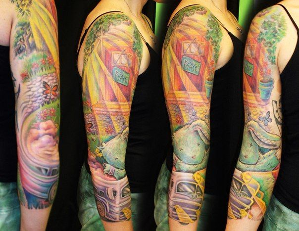 Love Sleeve Tattoo: 21 Best Peace Sleeve Tattoos For Women Images On Pinterest