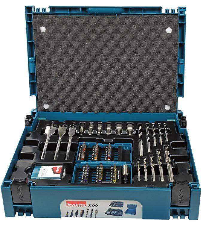 Makita B 43044 Drill And Bit Set 0 V Blue Black Elektroinstrumenty Drel Pylesosy