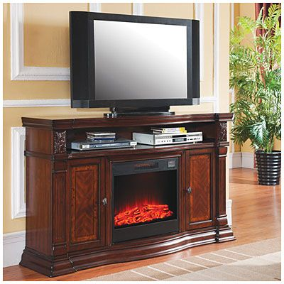Cherry Media Electric Fireplace At Big Lots
