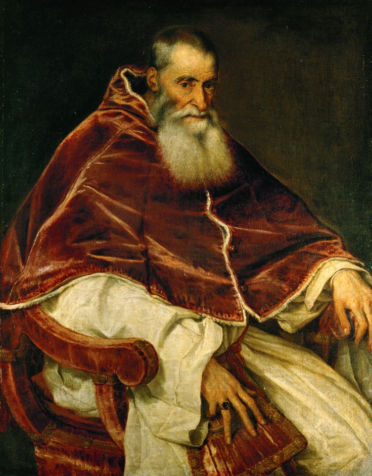 Titian the Artist Popular Work | Portrait Of Pope Paul III - Tiziano Vecellio ( Titian ) - Titian ...
