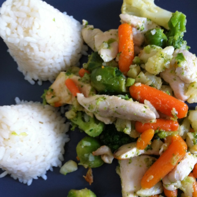 Pollo, verdure e riso -- via niccolini
