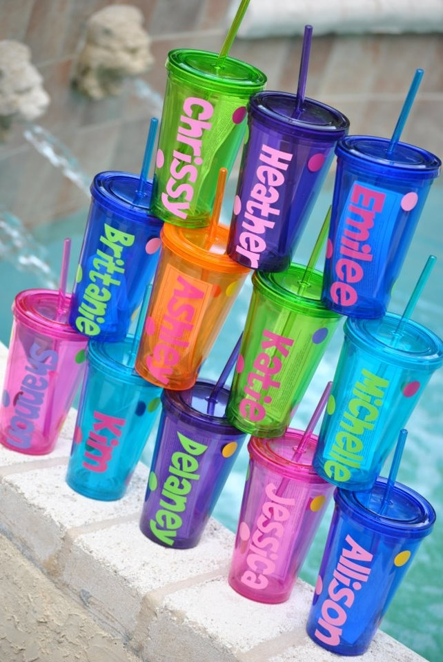 Cute personalized tumblers. Umm these would be perfect for shrimpfest @Crystal Eldridge @Whitney Clemons @Lilly Ritz