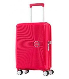 American Tourister - Curio - Valise rigide 21,5''  de format cabine 4 roues en polypropylène rose