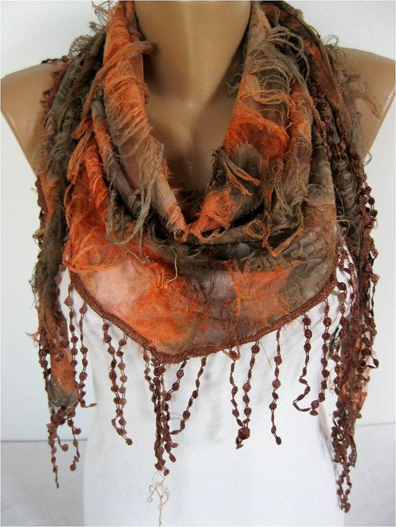 Elegant Multicolor Scarf gift Ideas For Her Women's by MebaDesign