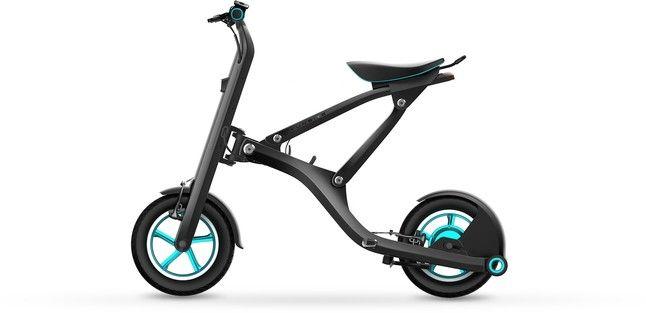 Una bicicleta plegable eléctrica y conectable al móvil, éxito en China