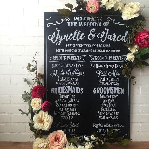 The 25+ best Wedding program chalkboard ideas on Pinterest - wedding program