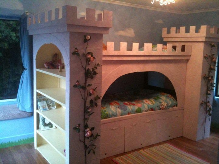 Castle bunk bed Boys room Pinterest Shelves, Beds