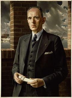 """""""Portret van ir. S.G.J.M. van Schaik / Portrait of the engineer S.G.J.M. van Schaik)"""", 1944 / Carel Willink (1900-1983) / Private Collection"""