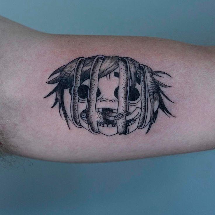 #Gorillaz . #oozytattoo #tattoo   Tattoos   Gorillaz ...