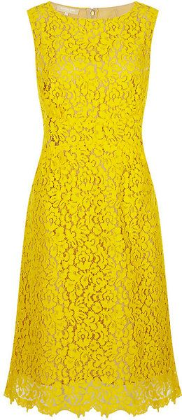 Michael Kors Lace Shift Dress - Lyst ~ Adding my colour blue ( Cobalt, Electric, Royal ) would be amazing with this