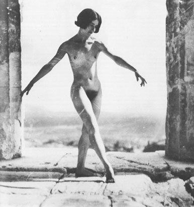 Mona Paeva dancing on the Acropolis. c. 1929 / photo by Nelly's (Elli Souyioultzoglou-Seraïdari)
