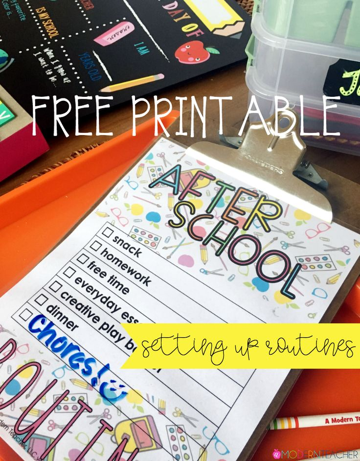 Free Printable After School Routine | Routines for kids; free printable to set up after school routines; routines to create action now; back to school routines made easy!