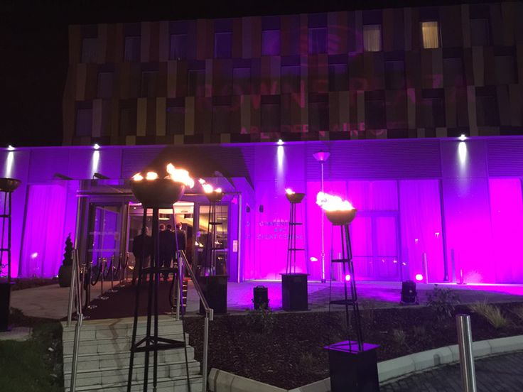 Grand Opening Of Crowne Plaza Aberdeen Airport I Interior Designed By The DMA Team Hotel Design Entrance To On Night