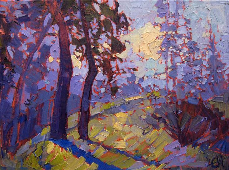 Northwest lavenders painted by expressionist painter Erin Hanson