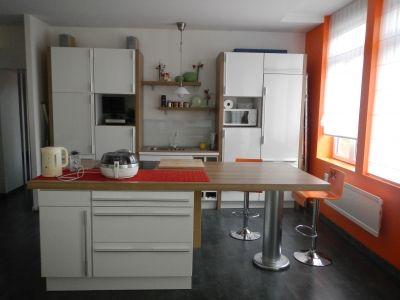 Ma cuisine avec îlot central - partie ilot central - rangement et cuisson - Vous avez une cuisine ouverte