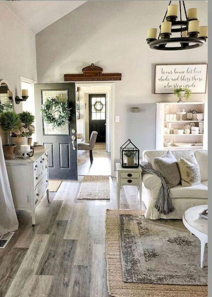 33 Farmhouse Living Room Flooring Ideas (10