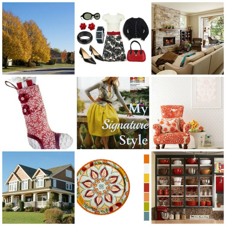 "Signature style board by @Rachel Nelson  // Make your own and link up!  http://www.fieldstonehilldesign.com/2013/01/odp-signature-style-board.html ""My Signature Style! What a fun project to really dissect what I like!"""