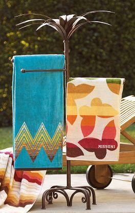 Palm Tree Outdoor Towel Rack