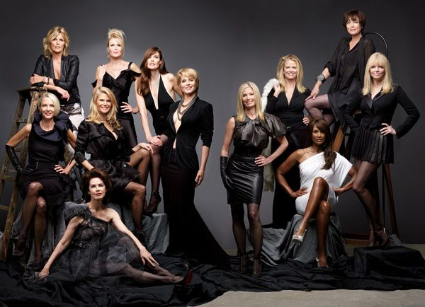 Ageless Beauty Documentary Photo Shoot - Supermodels from the 50s to the 80s Today - Harper's BAZAAR. Cheryl Tiegs  is on the far right.