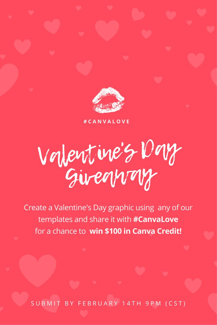 Poster design canva -  Canva Giveaway Time Create A Valentine S Day Graphic Using A Template Of Your Choice