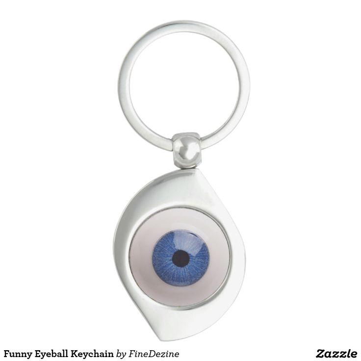 Funny Eyeball Keychain