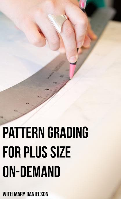 Pattern grading can seem like a daunting task to learn. Fact is that pattern grading is not only easy to learn, but it will open almost an endless supply of possibilities for sewn garments. Never will you need to turn a pattern away because it was too again! In Pattern Grading For Plus Sizes your instructor will teach you how to grade up or down and make any sewing pattern fit your size. #burdastyle #sewing #class #sew #diy #ondemand