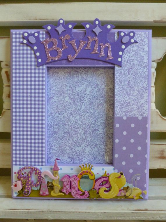 Princess Picture Frame Crown Purple Lavender Little Girl Birthday Baby Shower Sweet Sixteen