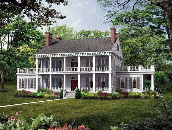 Colonial   Southern   House Plan 95218