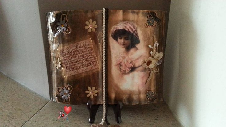 book with decoupage .. love it!!