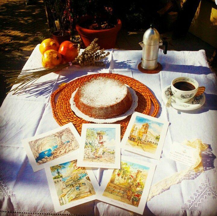 Breakfast with the Caprese cake! Colazione con torta Caprese!