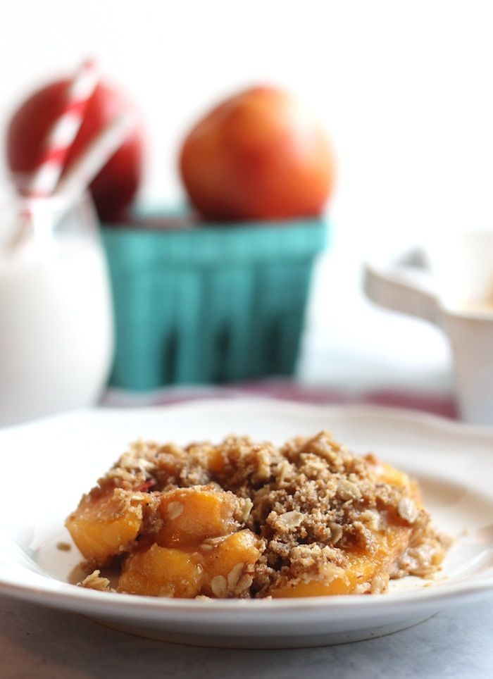 This simple vegan and gluten-free peach crisp only requires 8 ingredients and comes together in minutes! Whip it up for a tasty treat the whole family will adore. I have to tell you guys sumpseeeeng SERIOUS. I'm going paleo. Like steak status. Wait. I know you didn't take that seriously. What I really have to tell you is that I did my 7th grade science project on how the size of the peach effects the... Read More »