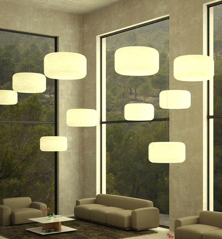 Lamparas colgantes modernas para la sala salas de estar for Lamparas para salas pequenas