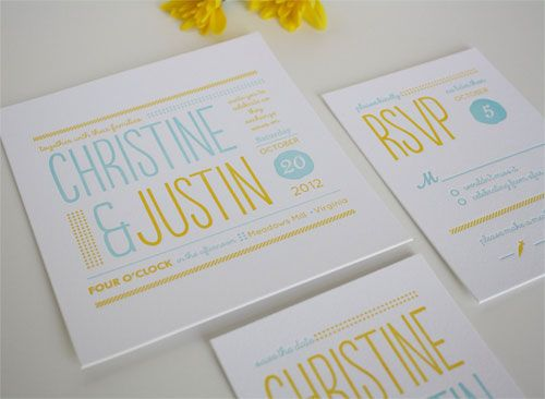 Best 25 typography invitation ideas on pinterest for Letterpress wedding invitations gold coast