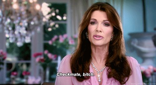 """In conclusion… Lisa is the best of ALL the housewives and can never EVER leave the show. 