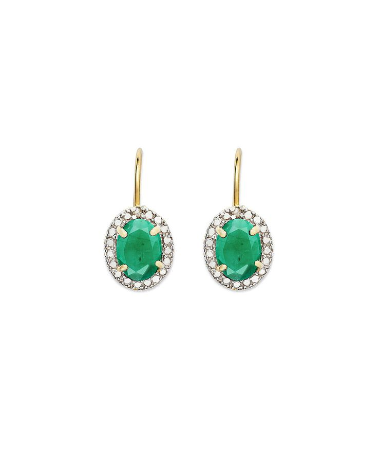 Look at this #zulilyfind! Emerald & Diamond Oval Drop Earrings by Endearing #zulilyfinds