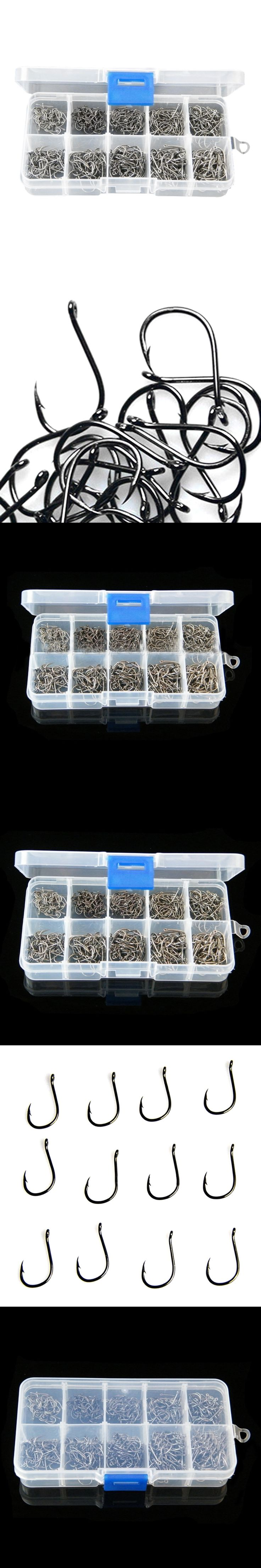 FZCSPEED Size #3-12 High Carbon Steel Circle Owner Fishing Hooks Set Freshwater Fishhook Sets Strong Fish Tackle Tool 500PCS/Box