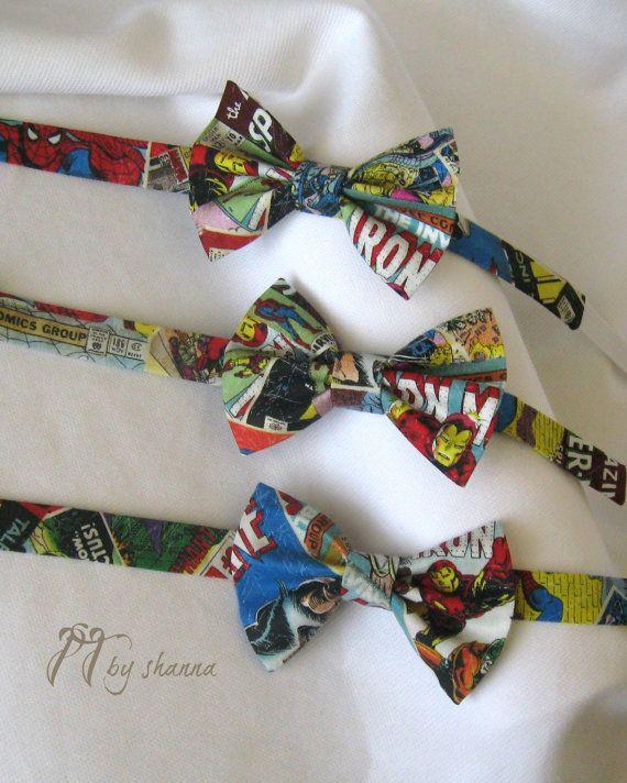 Comic Book Superhero Bow Tie by PillowTalkbyShanna on Etsy, $13.50