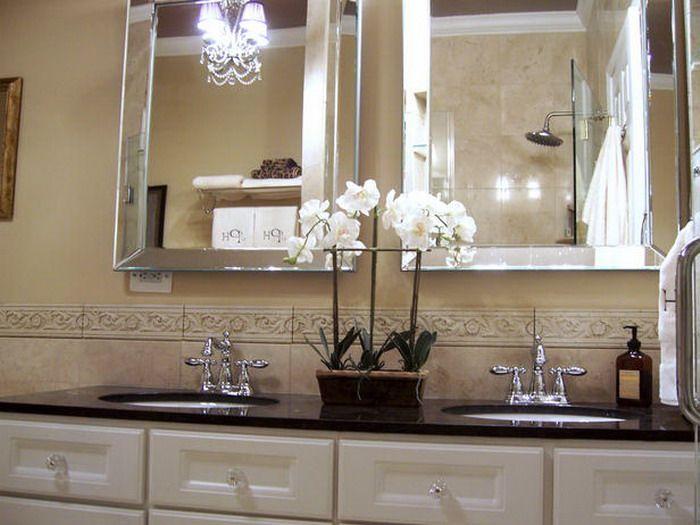 Brown Classic Neutral Bathroom Design