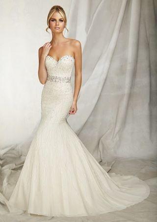 Sweetheart neck fishtail stunning dress