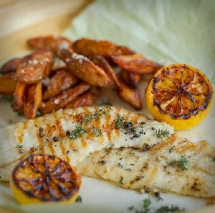 Grilled Lemon Fish with Parmesan Wedges - Cooking with Tenina