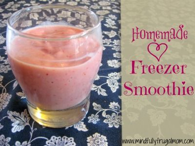 Healthy Strawberry Smoothie Recipe - Freeze this mix to make a smoothie in just a few minutes!