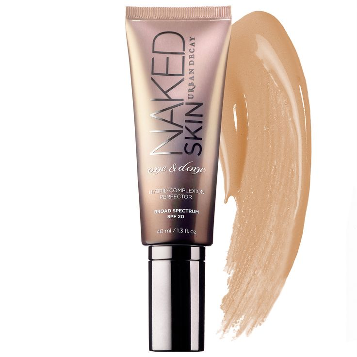 Shop Urban Decay's Naked Skin One & Done Hybrid Complexion Perfector at Sephora. It blurs imperfections, evens skintone, and provides sheer coverage.