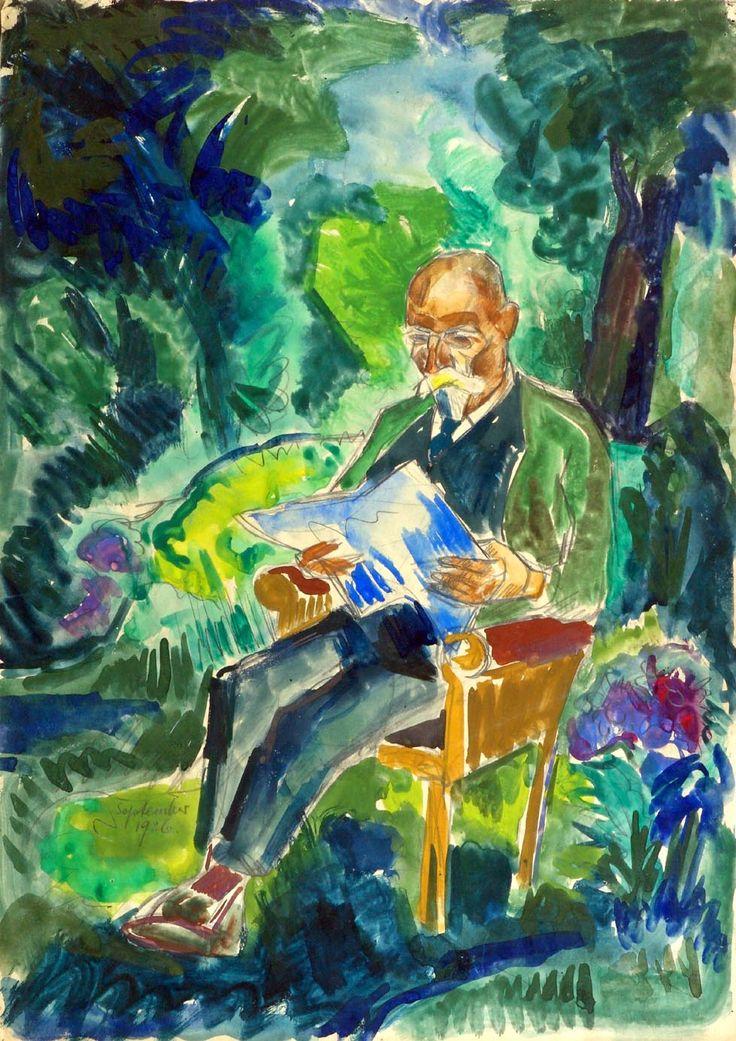 Fritz Schaefler Vater Im Garten