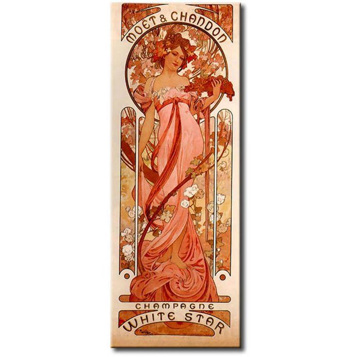 Plakaty reklamowe w najlepszym wydaniu czyli dzieła Alfonsa Muchy w stylu art nouveau #mucha #artnouveau #secesja #plakaty #alfonsmucha #plakaty