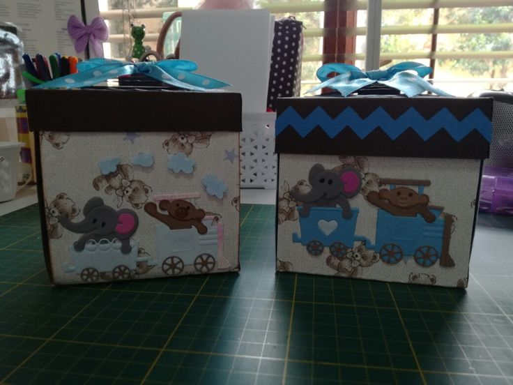 Box cards made for my new grandson, Jackson.