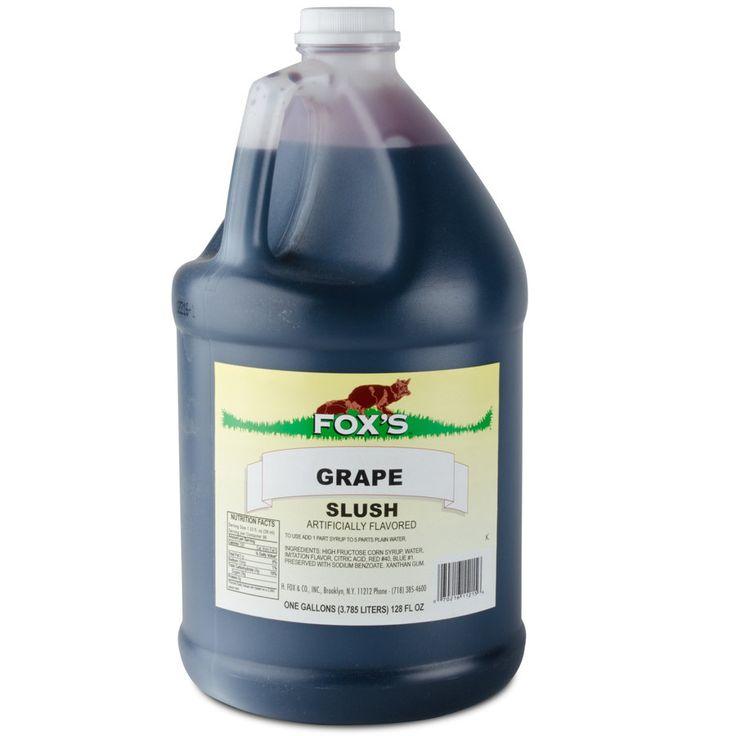 Fox's Grape Slush Syrup - 1 Gallon Container